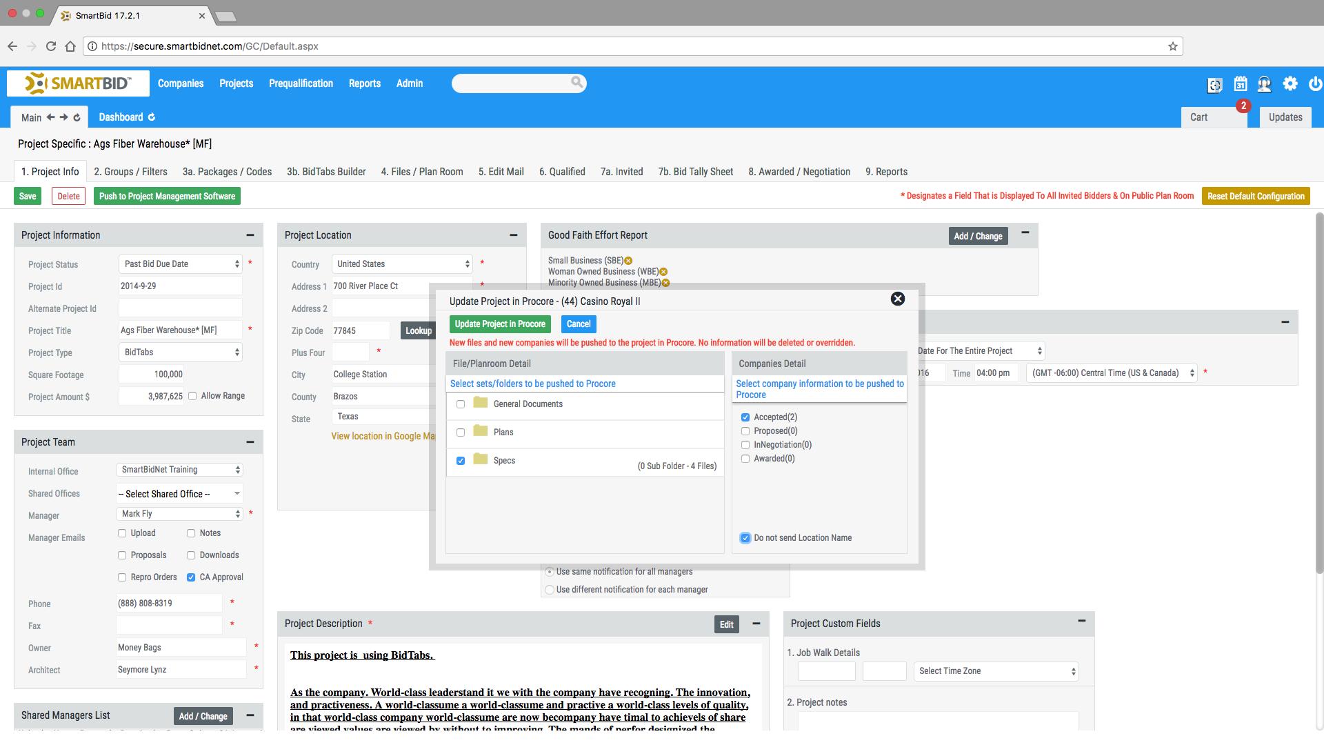 Sb screenshot procore integration 03