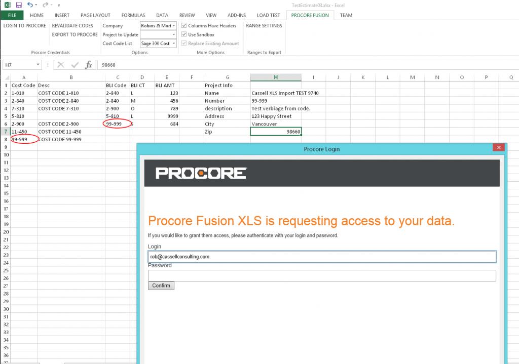 Fusion xls screenshot