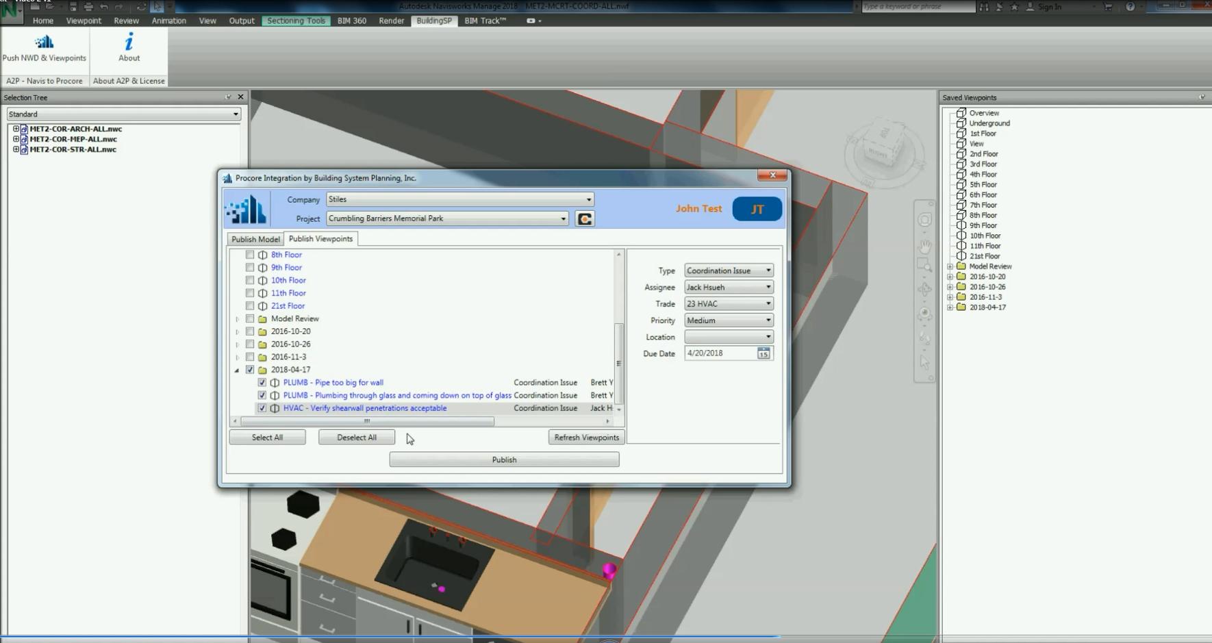 A2P Add-on for Autodesk Navisworks