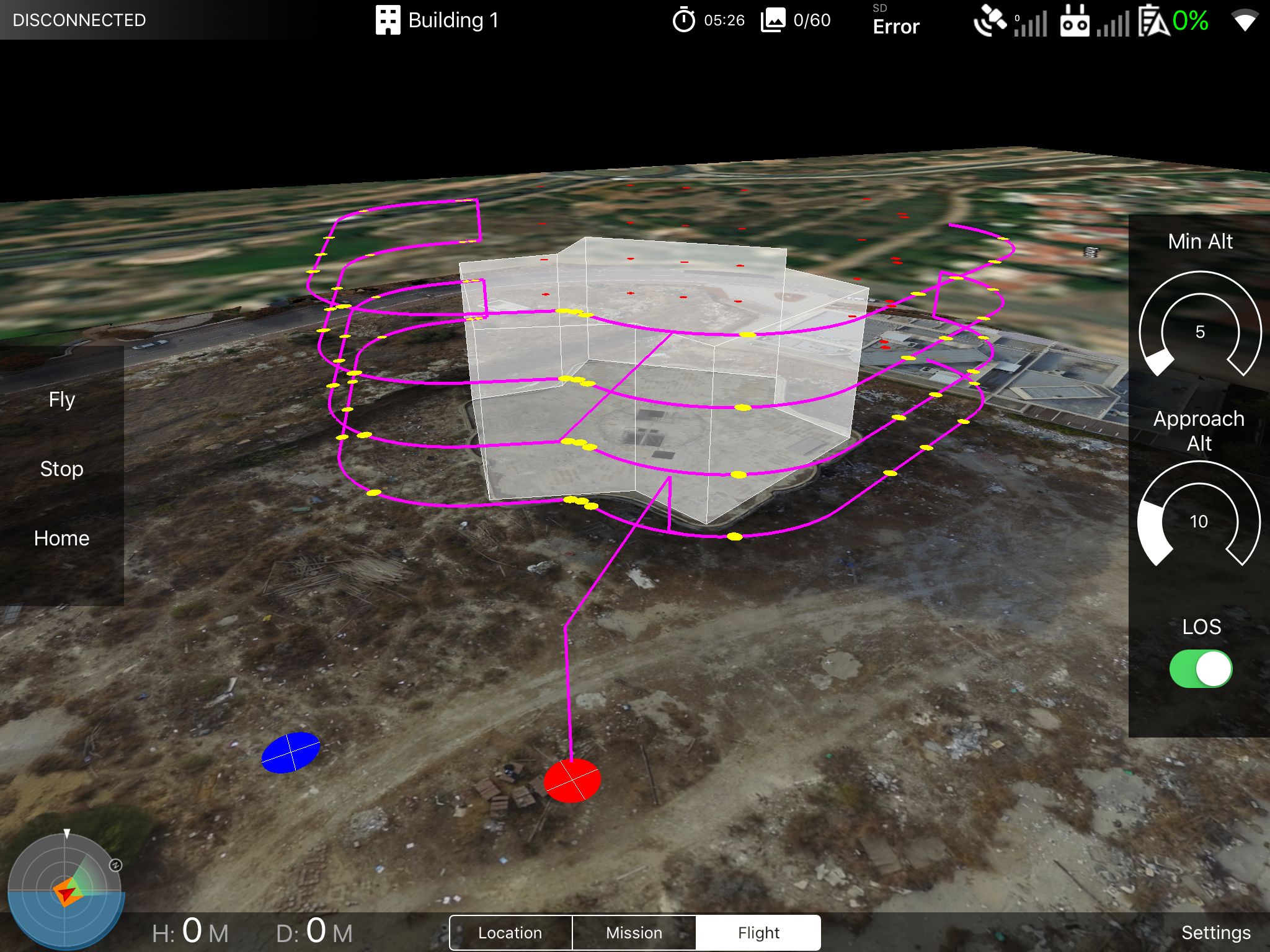 Dronomy planner screen 2